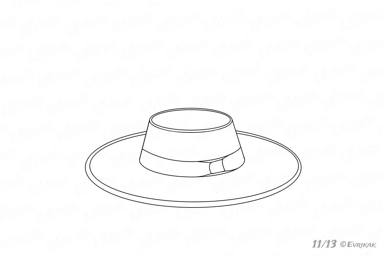 Hatband's middle