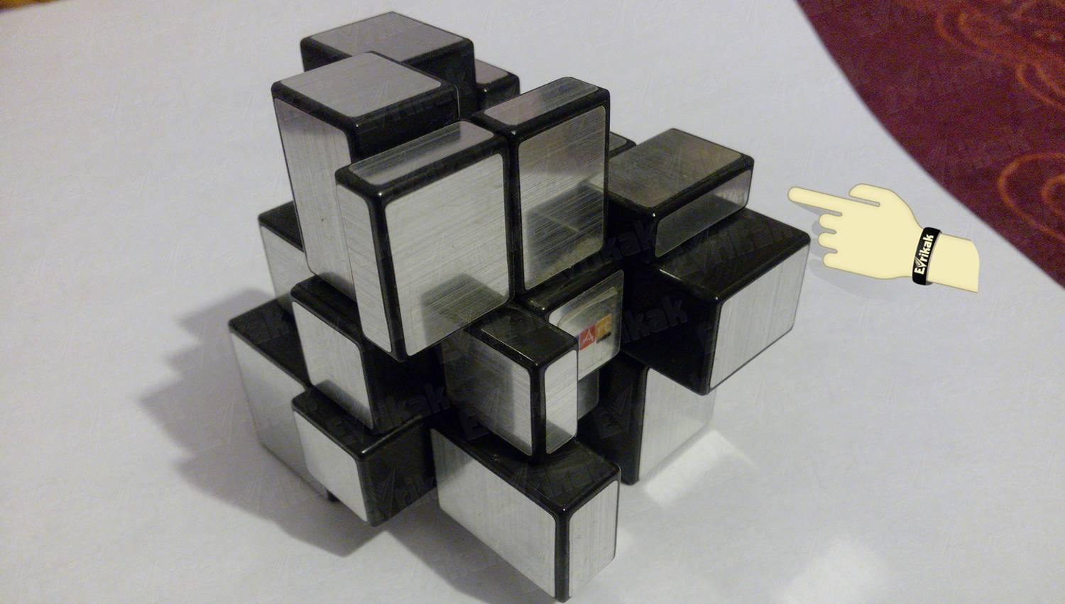 How to solve a mirror Rubik's Cube: step by step instruction with photos