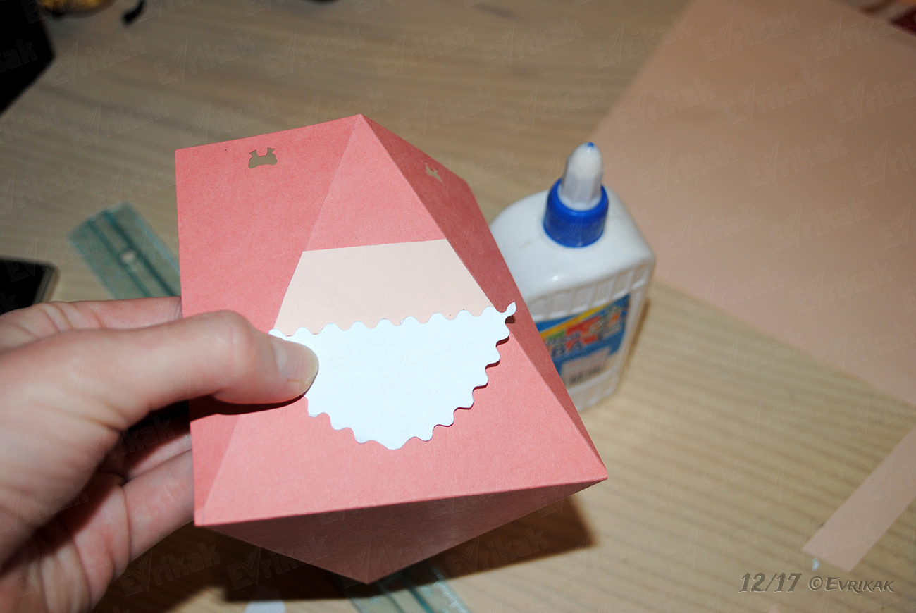 Decorate the box with Santa Claus