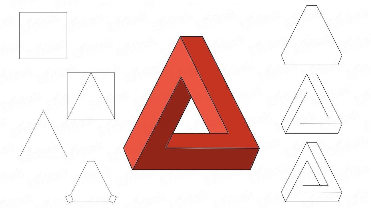 How to draw a 3D triangle (+ coloring)
