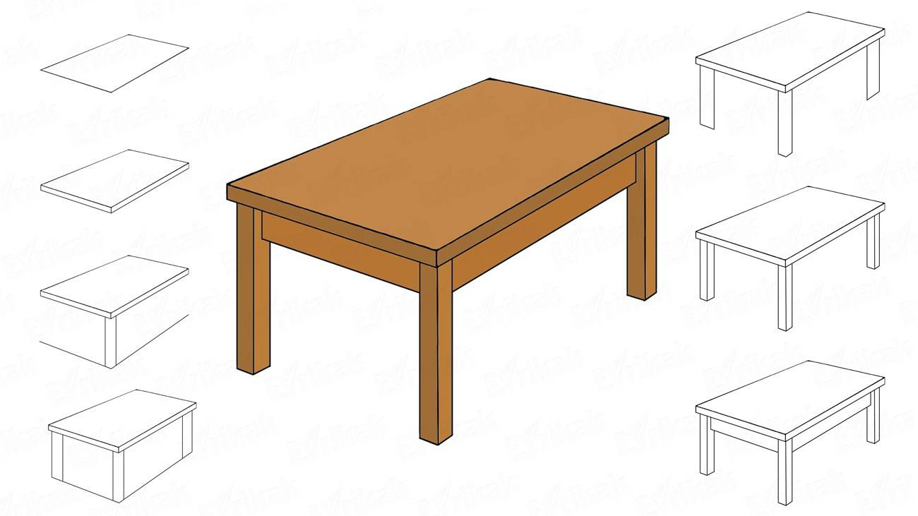 How to draw a table (+ coloring)