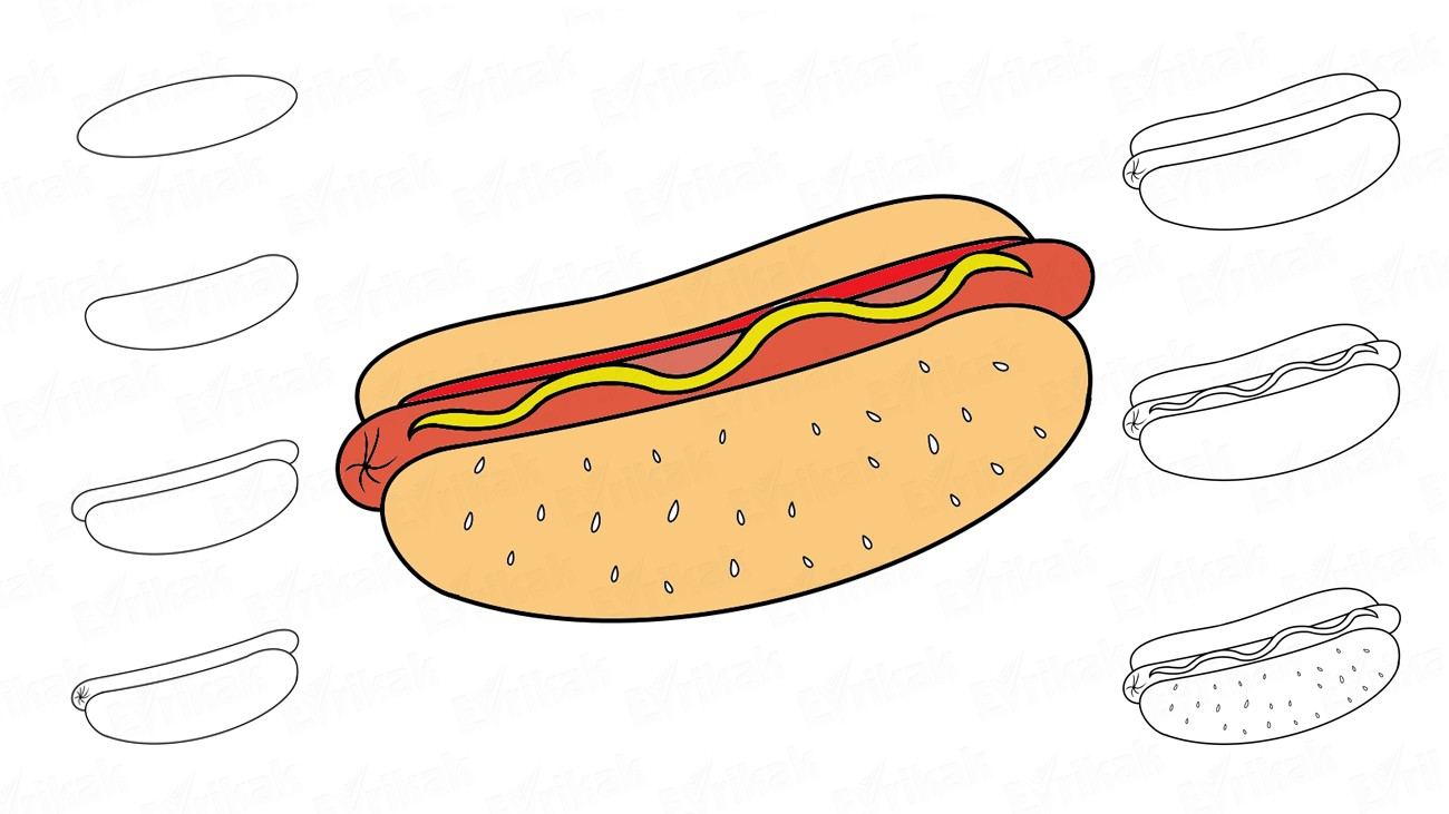 Learning How To Draw A Hot Dog