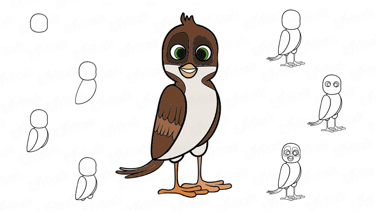 "Learn to draw Richard from the cartoon ""Richard the stork"" (+ coloring)"