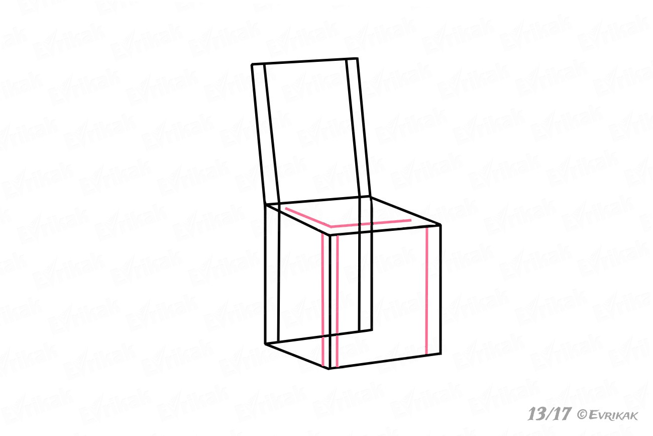 Drawing the chair's legs