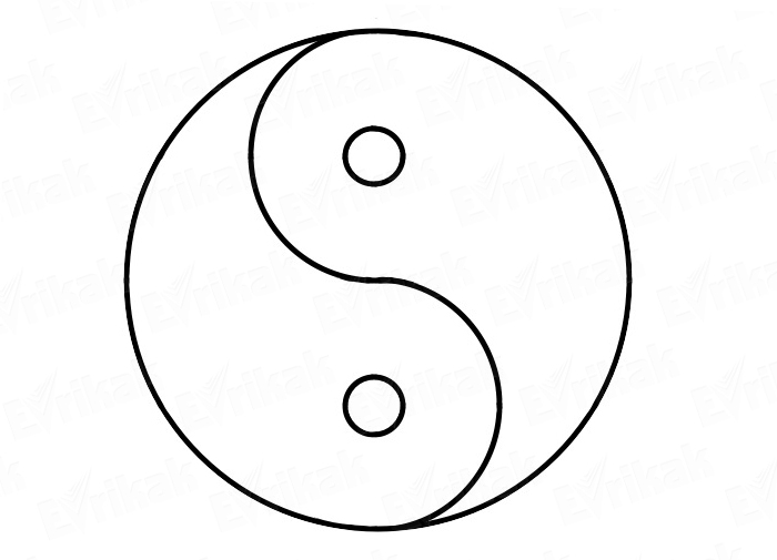 How To Draw Yin Yang In Stages Using A Pencil
