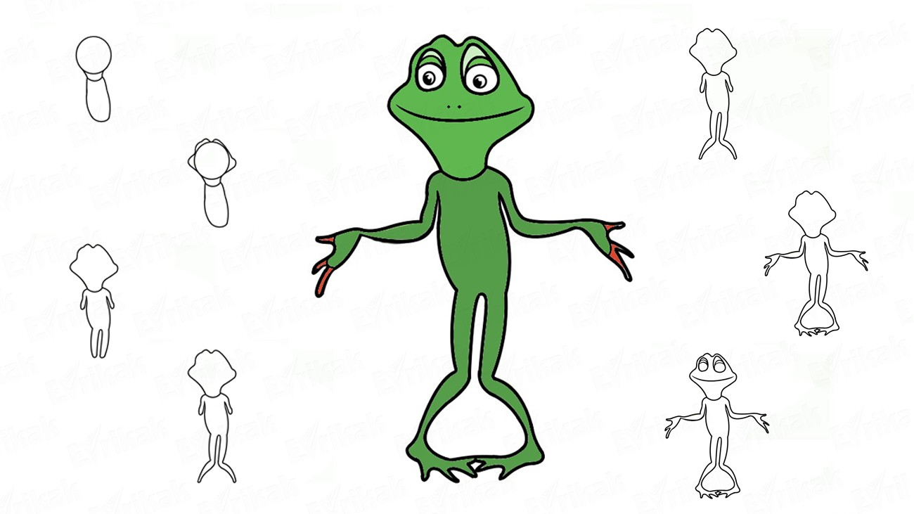 Learn to draw Ribbit using a pencil (+coloring)