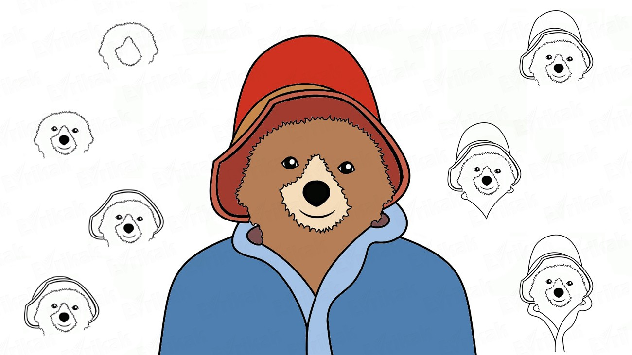 Learn to draw Paddington from the movie in stages (+ coloring)