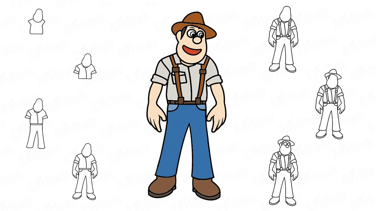 We are drawing Tad Jones from the cartoon in stages (+ coloring)
