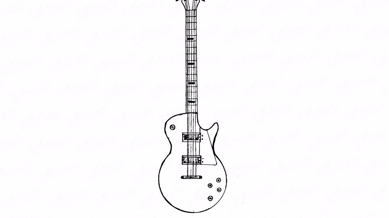 Learn how to draw a cool guitar for a child