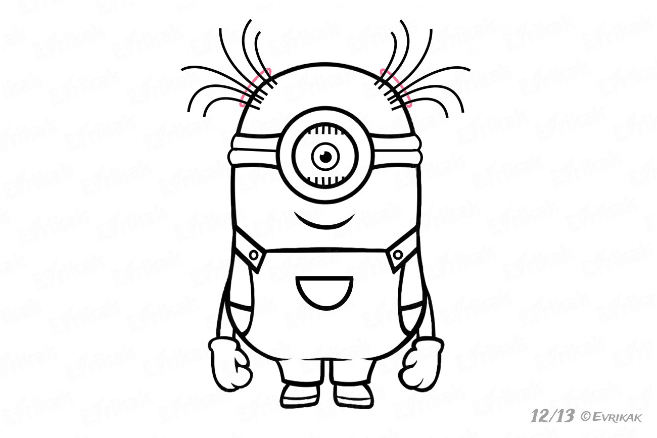 How To Draw A Minion With One Eye In Stages Using A Pencil