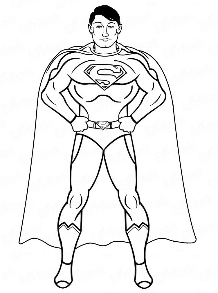 How To Draw A Superman Step By Step