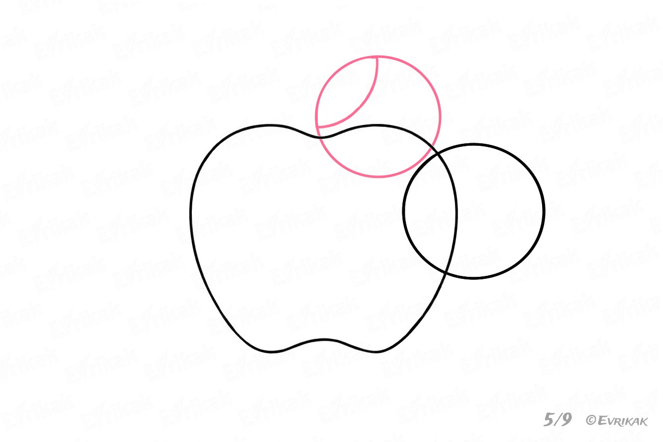 How To Draw The Apple Logo Step By Step Using A Pencil