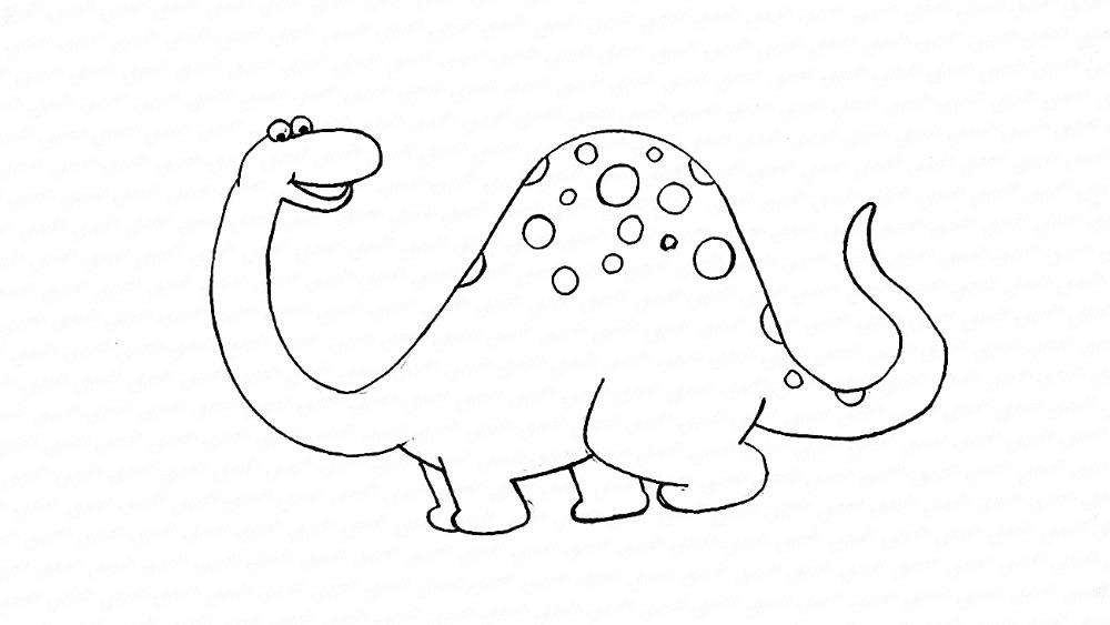 Learn to draw a dinosaur step by step