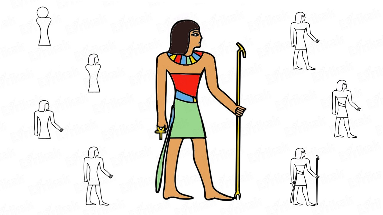 Learn to draw the God of Ancient Egypt in stages (+ coloring)