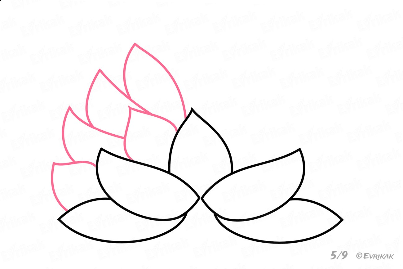 Continue forming the flower