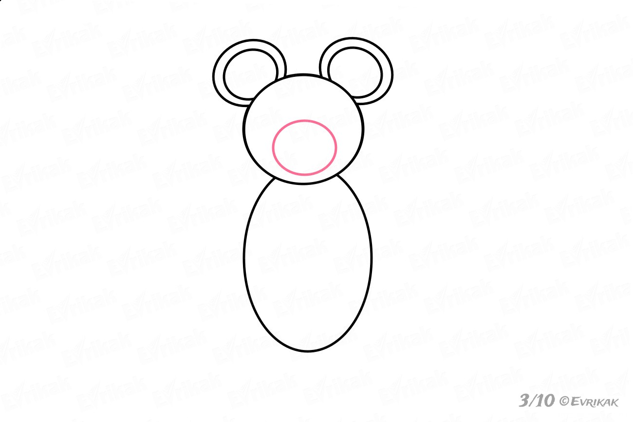 Draw a round nose