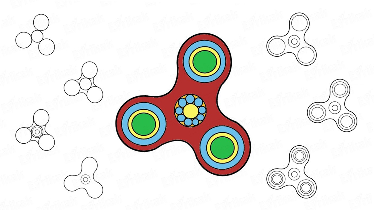 How to draw a spinner step by step