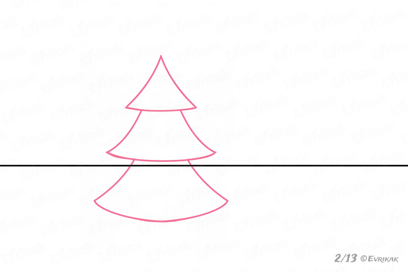 Draw the Christmas tree