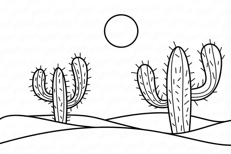 """Coloring online """"cacti in the desert"""""""