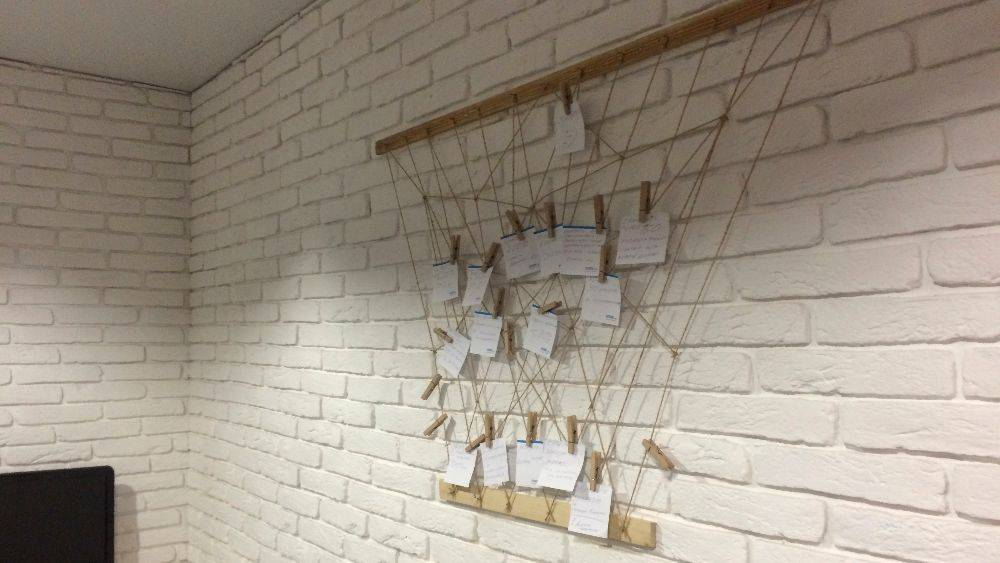 """Unusual """"target board"""" for home or office: making it step-by-step"""