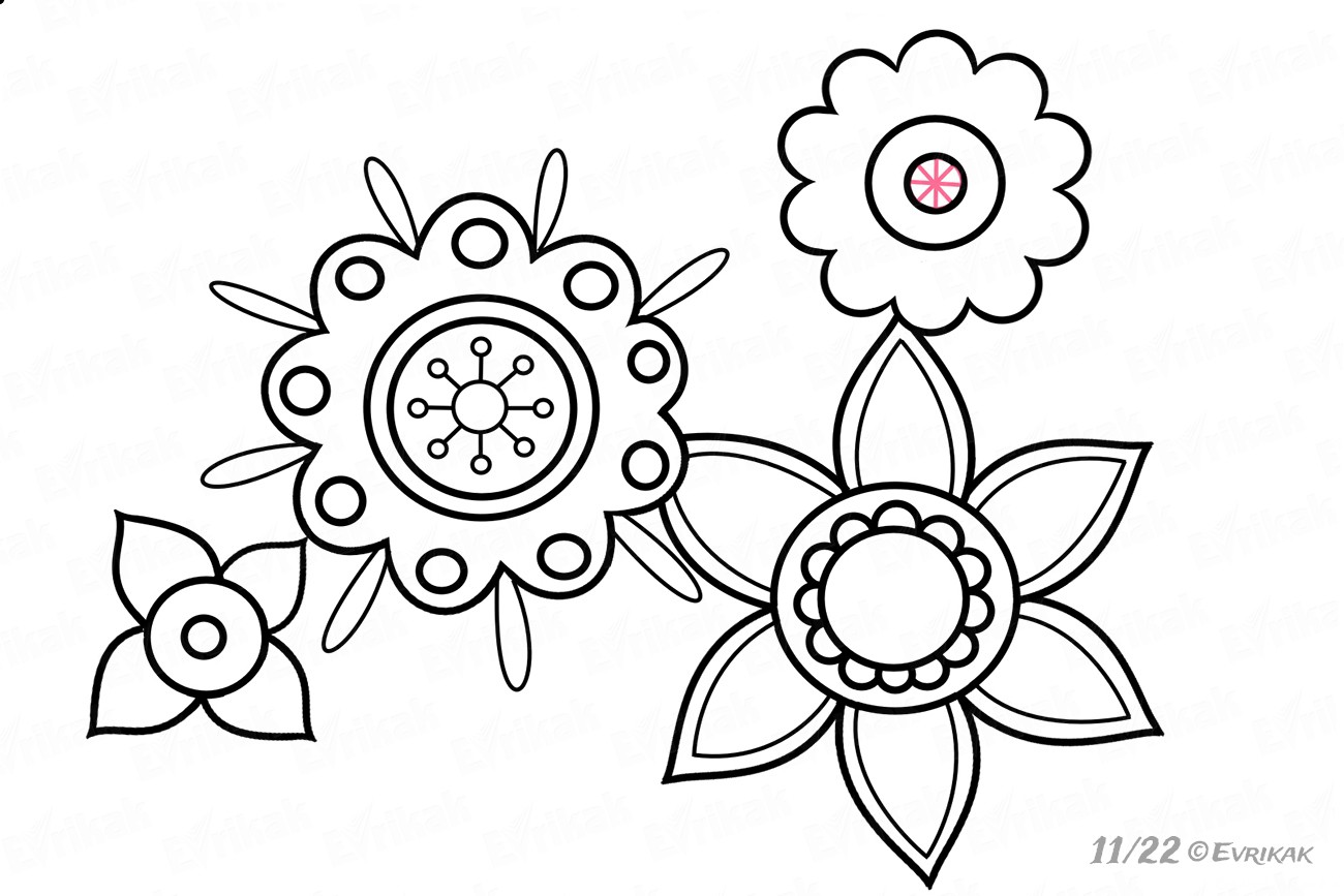 Start drawing the small flowers