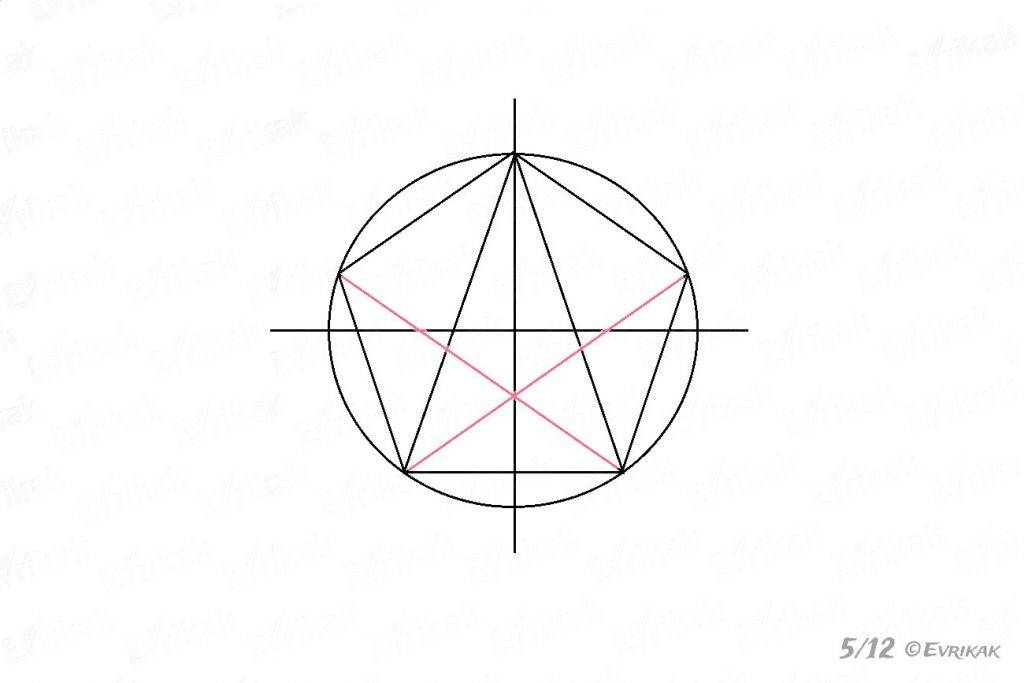 Draw the corners of the star