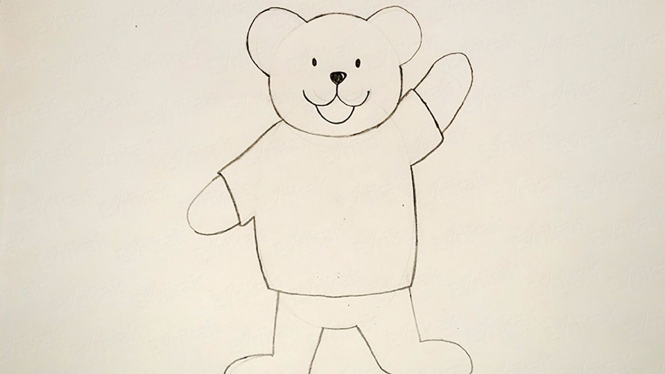 How to draw a bear using a pencil